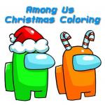 Among Us Christmas Coloring