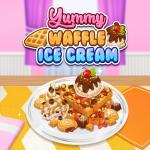 Yummy Waffle Icecream